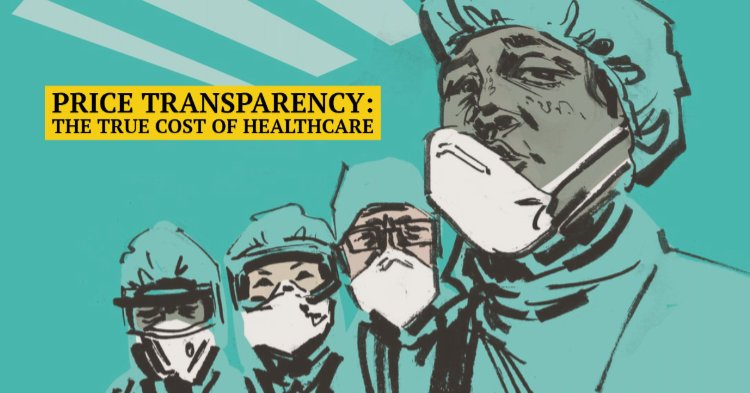 Green and black illustration of doctors wearing masks