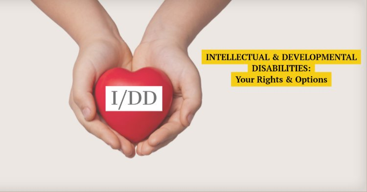 "The acronym ""I/DD"" imposed over a plastic heart held by two hands."